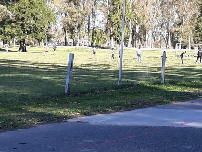 Imagen del parque ayer a la tarde.